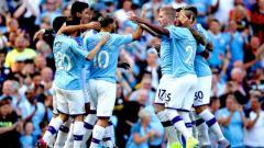 Indosport - Selebrasi Aguero dan kawan-kawan di laga Liga Inggris antara Manchester City vs Watford, Sabtu (21/09/19).
