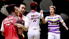 Indosport - 4 fakta final China Open 2019 Kevin/Marcus vs Ahsan/Hendra