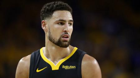 Bintang Golden State Warriors, Klay Thompson, memuji komposisi tim LA Lakers. Ezra Shaw/Getty Images. - INDOSPORT