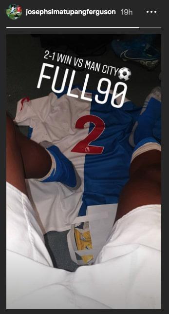 Joseph Simatupang Ferguson membantu Blackburn Rovers U-18 menaklukkan Manchester City 2-1 dalam pekan keenam Liga Inggris U-18, Sabtu (21/8/19). Copyright: https://www.instagram.com/josephsimatupangferguson/