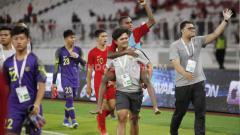 Indosport - Timnas Indonesia U-16 saat merayakan keberhasilan lolos ke putaran final Piala Asia U-16 2020.