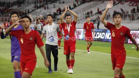 Timnas Indonesia U-16 terus melakukan persiapan guna tampil Piala AFF U-16 dan Piala AFC U-16. Skuat besutan Bima Sakti ini diagendakan beberapa laga uji coba. - INDOSPORT