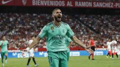 Indosport - Striker klub Liga Spanyol, Real Madrid, Karim Benzema masuk dalam bidikan mantan timnya, Lyon.