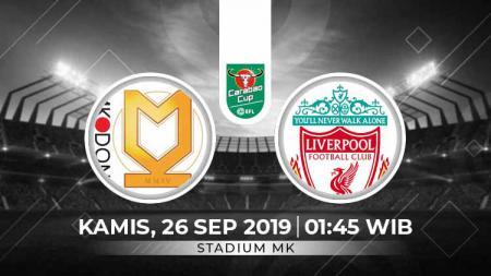 Prediksi Milton Keynes Dons (MK Dons) vs Liverpool di Piala Liga Inggris. - INDOSPORT