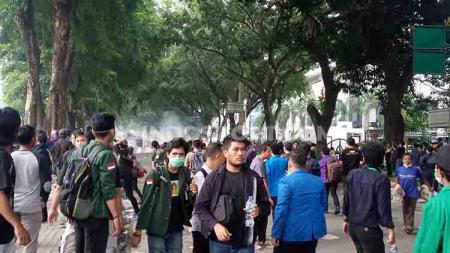 Ilustrasi sebuah demo yang terjadi di Kota Medan, dekat lokasi latihan PSMS, Selasa (24/9/2019) sore. - INDOSPORT