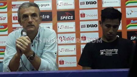 Pelatih Arema FC, Milomir Seslija jumpa pers usai laga - INDOSPORT