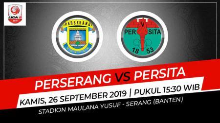Pertandingan Perserang Banten vs Persita Tangerang. - INDOSPORT