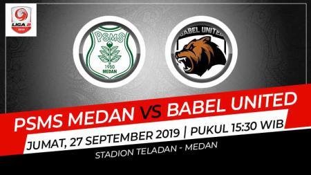Pertandingan pekan ke-19 kompetisi sepak bola Liga 2 2019 akan menyajikan laga seru antara tuan rumah PSMS Medan menjamu Aceh Babel United, Jumat (27/09/19). - INDOSPORT