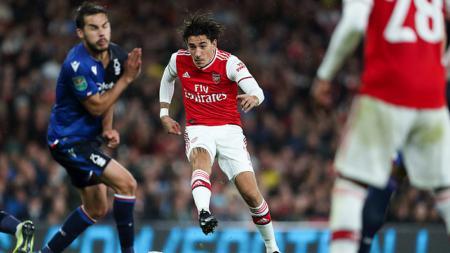 Bintang Arsenal, Hector Bellerin dikabarkan semakin mendekat ke Serie A Italia untuk membela Inter Milan. - INDOSPORT