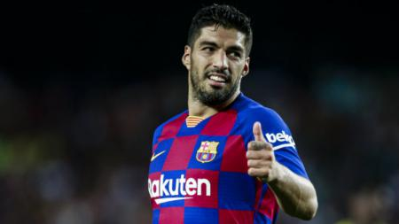 Luis Suarez di laga Barcelona vs Villarreal. - INDOSPORT