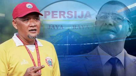 Pelatih Persija Jakarta, Sudirman dan Edson Tavares. - INDOSPORT