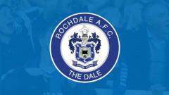 Indosport - Logo salah satu tim Inggris, Rochdale AFC.