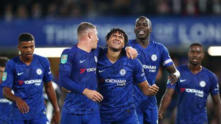 Selebrasi pemain Chelsea - INDOSPORT