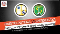 Indosport - Pertandingan Barito Putera vs Persebaya Surabaya.