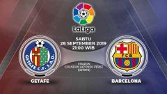 Indosport - Barcelona akan bertandang ke Stadion Coliseum Alfonso Perez untuk melawan Getafe CF di pertandingan sepak bola lanjutan Liga Spanyol 2019-2020.