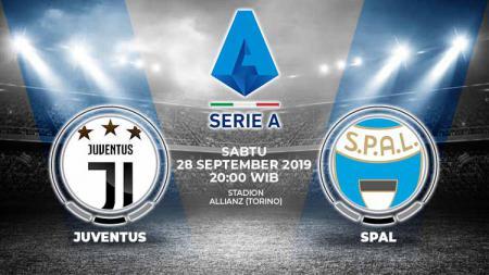 Prediksi pertandingan Juventus vs SPAL pada pekan ke-6 Serie A Italia 2019-20, Sabtu (28/9/19) malam, pukul 20.00 WIB, di Juventus Stadium. - INDOSPORT