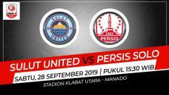 Indosport - Pertandingan Sulut United vs Persis Solo.