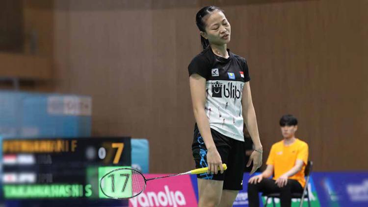 Fitriani kandas di tangan wakil Jepang di babak kedua Korea Open 2019. Copyright: Humas PBSI