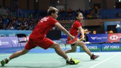 Indosport - Rinov/Pitha lolos ke perempatfinal Korea Open 2019.