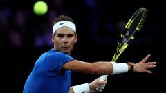 Indosport - Rafael Nadal di Laver Cup 2019.
