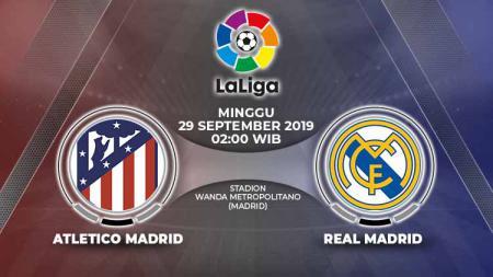 Pertandingan Atletico Madrid vs Real Madrid. - INDOSPORT