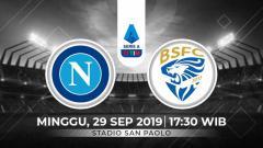 Indosport - Berikut link live streaming pertandingan pekan keenam Serie A Italia 2019-2020 antara Napoli vs Brescia.