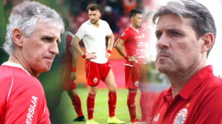 Dua mantan pelatih Persija Jakarta di Liga 1 2019, Ivan Kolev dan Julio Banuelos. - INDOSPORT
