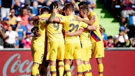 Bek Barcelona, Gerard Pique menyatakan punya kunci sukses bisa menang di pertandingan lanjutan LaLiga 2019-2020 tanpa kehadiran Lionel Messi. - INDOSPORT
