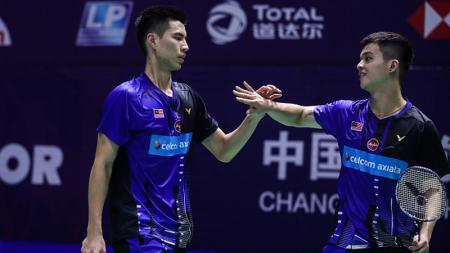 Berpeluaang hadapi Kevin Sanjaya/Marcus Gideon di Asia Open, pasangan ganda putra independen Malaysia, Ong Yew Sin/Teo Ee Yi mempercepat waktu latihan. - INDOSPORT