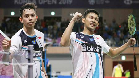Organisasi Bulutangkis Dunia (BWF) telah merilis perubahan peringkat dunia terkini jelang Kualifikasi Olimpiade Tokyo 2020 pada Selasa (11/02/20) hari ini, termasuk ranking Fajar Alfian/Rian Ardianto. - INDOSPORT