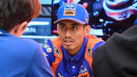 Hafizh Syahrin, pembalap Red Bull KTM dari Malaysia. - INDOSPORT
