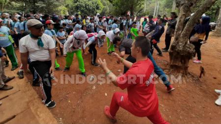 Keseruan senam bersama anak disabilitas dalam rangka memperingati satu tahun bencana Palu, Ragunan, Jakarta Selatan, Sabtu (28/09/2019) - INDOSPORT