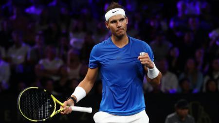 Rafael Nadal punya sosok penting di balik kesuksesannya sebagai atlet tenis papan atas. Julian Finney/Getty Images for Laver Cup. - INDOSPORT