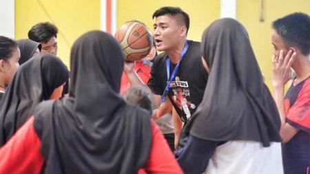 Andrey Rido, pebasket muda Indonesia hadir di Liga Basket Depok 2019 pada Minggu, 29 September 2019 - INDOSPORT