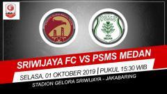 Indosport - Pertandingan Sriwijaya FC vs PSMS Medan.