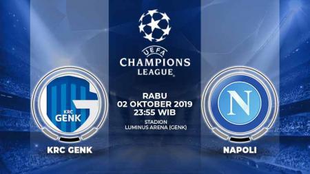Pertandingan KRC Genk vs Napoli. - INDOSPORT