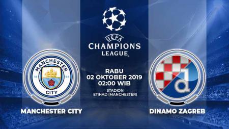 Pertandingan Manchester City vs Dinamo Zagreb. - INDOSPORT