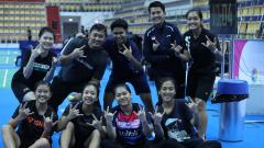 Indosport - Timnas badminton Indonesia di kejuaraan dunia junior