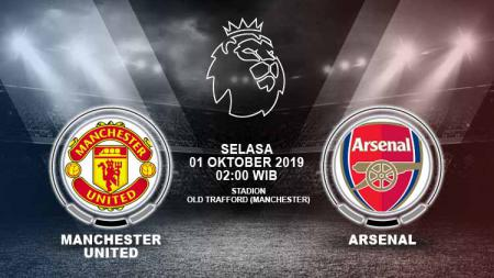 Pertandingan Manchester United vs Arsenal. - INDOSPORT