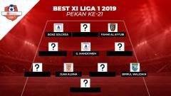Indosport - Starting terbaik Liga 1 2019 Pekan 21.