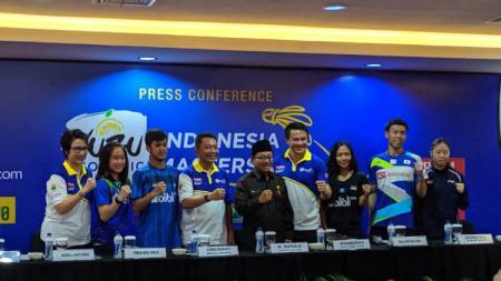 Konferensi pers Indonesia Masters, Senin (30/09/19). - INDOSPORT