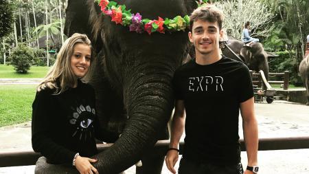 Charles Leclerc bersama dengan pacarnya, Giada Gianni - INDOSPORT