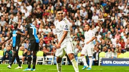 Selebrasi pemain Real Madrid, Casemiro - INDOSPORT