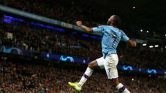 Indosport - Selebrasi striker Manchester City, Raheem Sterling