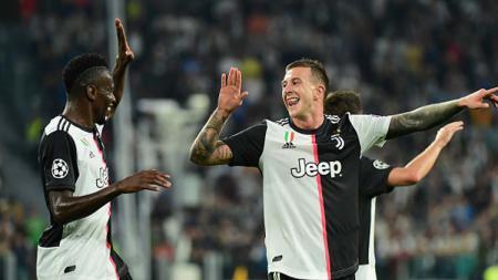 Selebrasi para pemain Juventus - INDOSPORT