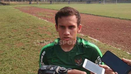Egy Maulana Vikri saat jalani tc pertama di Stadion Pajajaran Bogor. - INDOSPORT