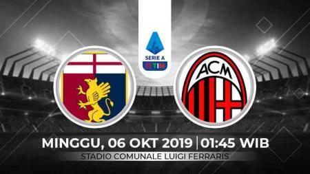Link Live Streaming Genoa vs AC Milan - INDOSPORT