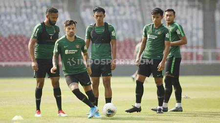 Timnas Indonesia memiliki skuat dengan rataan usia tertua di grup G Kualifikasi Piala Dunia 2022 yang akan berlaga pada 10 dan 15 Oktober 2019. - INDOSPORT