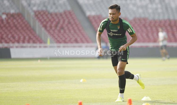 Saddil Ramdani ikut jalani TC Timnas Indonesia Senior di Stadion Utama Gelora Bung Karno. Copyright: Herry Ibrahim/INDOSPORT