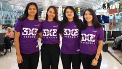 Indosport - Tim nasional bola basket 3x3 putri Indonesia.